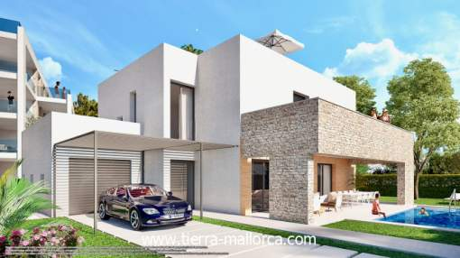 Exclusive new build villa with pool near the sea
