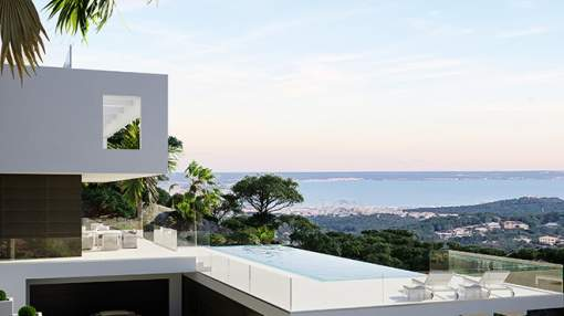 Designer villa in exclusive location with a dream view