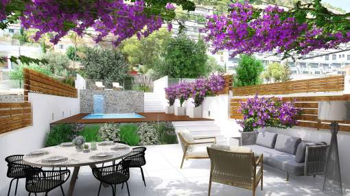 New construction – Beautiful terraced houses with beautiful panoramic views in Genova near Palma