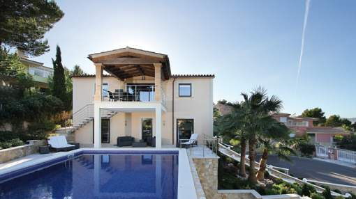 Marvellous villa with panoramic views for sale in Santa Ponsa, Mallorca
