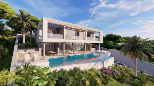 Brand new luxury villa with sea views for sale in Portals Nous, Majorca