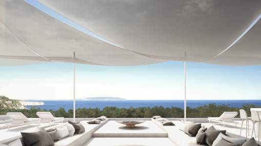 Modern Waterfront Home under construction - Direct Sea View - Cap de Barbarie - Formentera