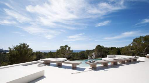 Large Villa With Panoramic Sea Views For Rent in Cala Tarida - Ibiza