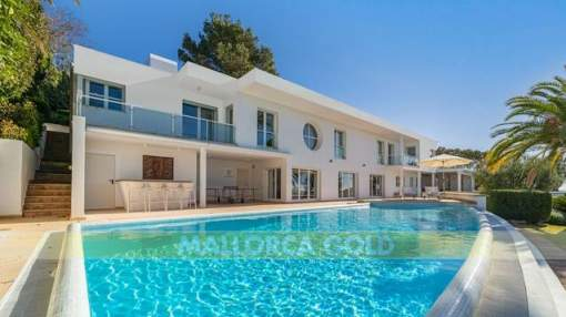 Modern Villa with stunning open sea views towards the Malgrat Islands and with a holiday rental license