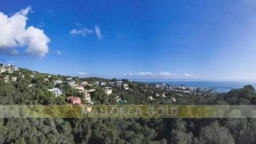 Investment ; Seaview plot in Costa den Blanes with valid building license and excavation done