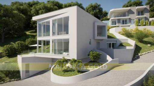 Planned modern and contemporary designer villas with sea views