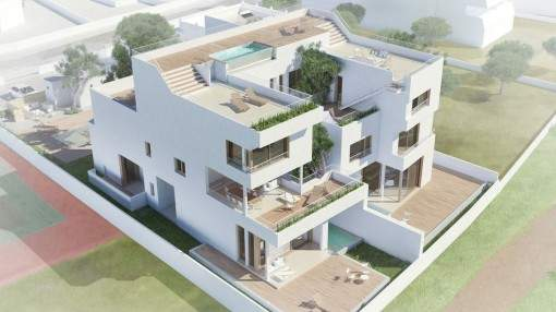 Modern designer-villa directly on the sea and divided into 4 luxurious living units