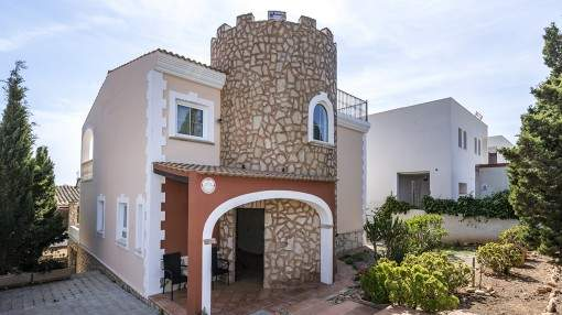 Mediterranean style villa with roof terrace close to Es Trenc