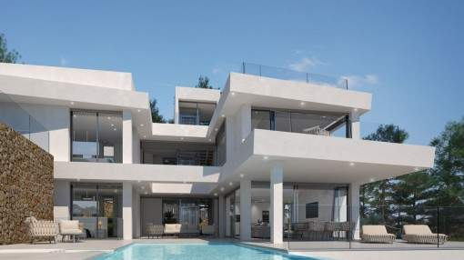 Spectacular designer villa in first sea line with private access to the sea in Cala Santanyí