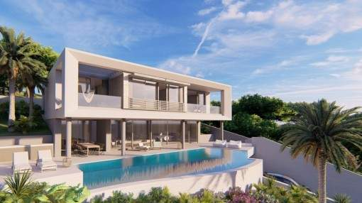 Spectacular, luxurious newly-built villa with sea views in Portals Nous