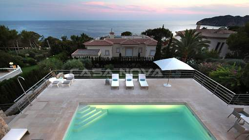 Santa Ponsa - Modern villa in southern position and view to the Malgrat Islands