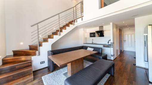 Chic penthouse in an exclusive community with sea access in Illetes