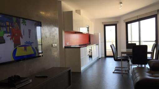 Modern Apartment for rent in S'Illot with Sea view